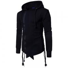 2017 Men's Cotton Sweater Assassin Side Drawstring Hoodie black size m 50 to 58kg
