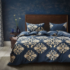 Fine Atistic Pattern Consise Duvet Cover Bed Sheet Pillow Case Bedding Set for Bedroom Dormitory Atistic Pattern twin