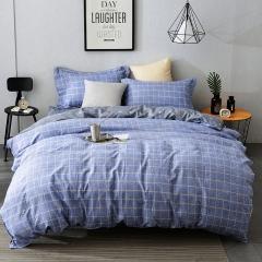 Excelent 100% Cotton Comfortable 4pcs Duvet Cover Sheet Bed Linen Bedclothes Pillowcase BHJF-1 1.2M
