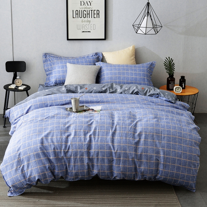 Excelent 100% Cotton Comfortable 4pcs Duvet Cover Sheet Bed Linen Bedclothes Pillowcase BHJF-1 1.8M