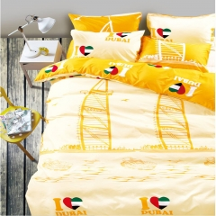Colorfull City Duvet Cover Bed Sheet Pillow Case Family Ultra Skin-friendly Cotton Colorfull City-1 full