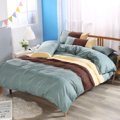 Fashion Strip Color Concise Duvet Cover Bedroom Duvet Cover 100% Polyester Pillowcase Strip-1 twin