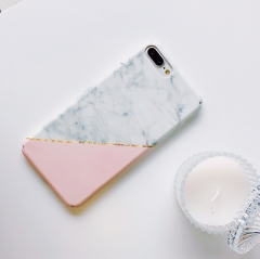 For iPhone X 6 6s 7 8 Plus Fashion Gold Glossy Marble Phone Cases Cover High Quality hard PC  Case H14 for iphone 6 6s