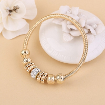 Europe and USA Popular Jewelry Bracelet Women Rhinestone Alloy Decor Fashion Bracelets gold one size