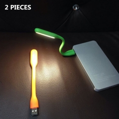 LED USB Mini Night Light Adjustable Portable Flexible Fashion Reading Lamp 2pcs Random Color 17cm 1.2w