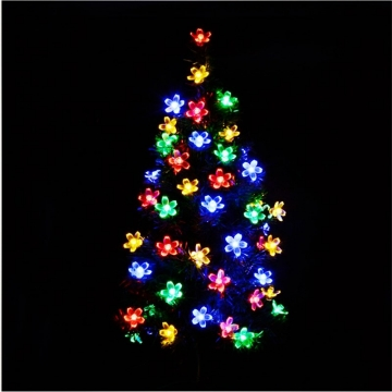 5M 50LED Battery Box Colorful Season Cherry Light Strings Use For Garden Pation Christmas Decoration