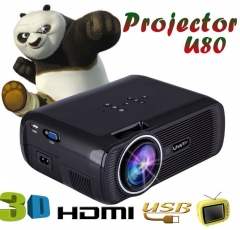 Mini WIFI 1080P 3D HD LED Portable Projector Theater Home Cinema black android4.4