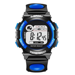 FH Brand Unisex Kids Student Watches Fashion Sports Digital Noctilucen Watches Long lasting battery Blue One Size