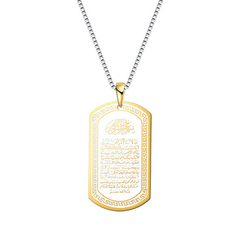 FH Wish Hot Selling Muslim Necklace Religious Totem Pendant Necklace Mens Necklace Gold One Size