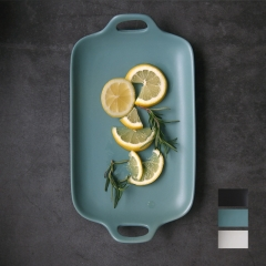 Japanese tableware Assorted Cold Plate fish pot Steak plate salad bowl white ceramic