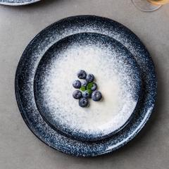 Large size ceramic dish Dinner Plates salad bowl Breakfast tray 8 inch ceramic