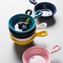 European ceramic creative soy sauce vinegar saucer dish with dish plate white ceramic