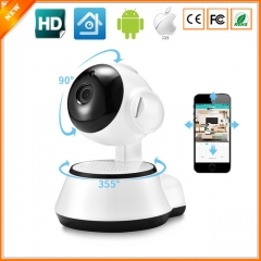 WiFi Mini Baby Monitor Wireless IP Camera P2P Indoor Security CCTV Camera Home Video Night Vision white one size