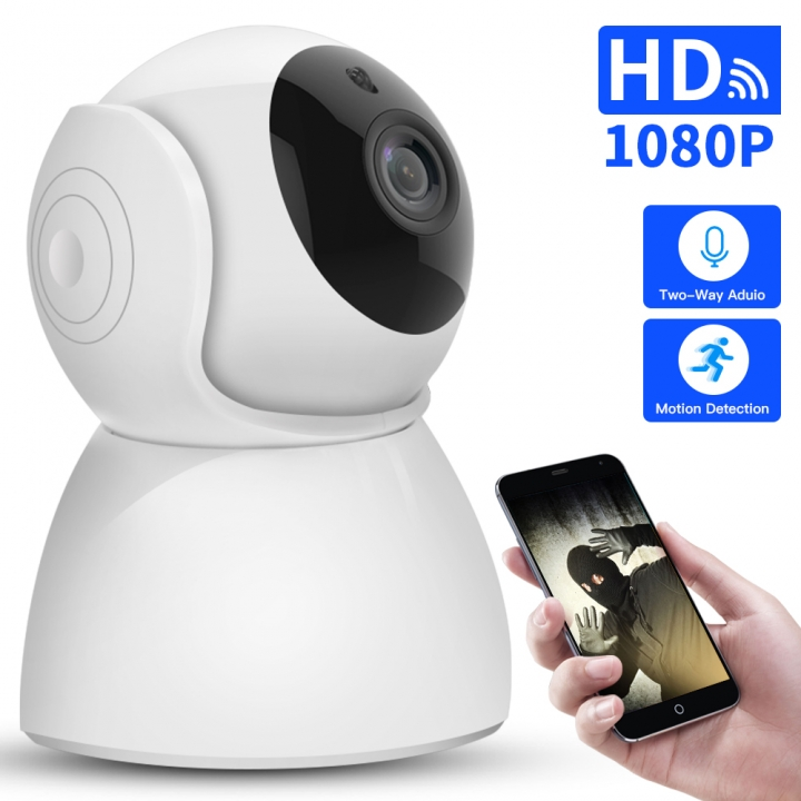 1080P IP Camera Wireless CCTV Surveillance Home Security Wifi Camera 2 Way Audio Night Vision white one size