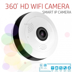 360 Degree Panoramic Wide Angle MINI Cctv Camera Smart IP Wifi Wireless Fisheye Lens 1080P Camera white one size