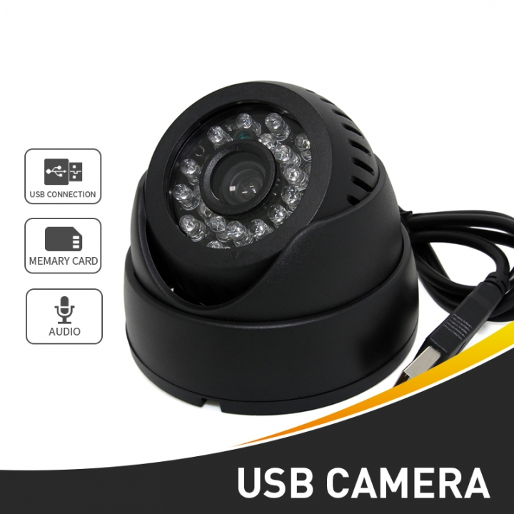 Mini Usb Home Surveillance Security Cctv 1/4 CMOS 420TVL Video Digital  Camera IR Light TF Card Cam black one size