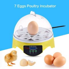 Portable Automatic Temperature Control Egg TrayEgg Incubator 7PCS Poultry Chicken Hatcher Machine