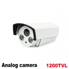 Analog High Definition Surveillance Infrared AHD Camera 1200tvl CCTV Camera Security Outdoor Cameras white Camera(include power and stand)