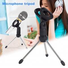 Microphone Mic Stand Tripod Bracket Portable Zinc Alloy Desktop Table Adjustable Holder