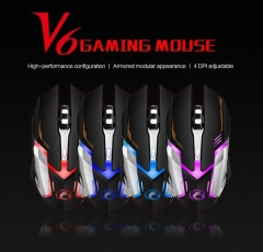 Professional Wired Gaming Mouse 2400DPI USB Wired Game Mouse Mice 6 Buttons Computer Gamer Mouse black One size