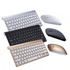 New Ultra Slim 2.4GHz Wireless Keyboard With Mouse Mice Kit Set For Desktop Laptop PC Computer black one size