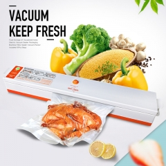 Household Food Vacuum Sealer Packaging Machine for Home Film Sealer Vacuum Packer Including Bags white one size