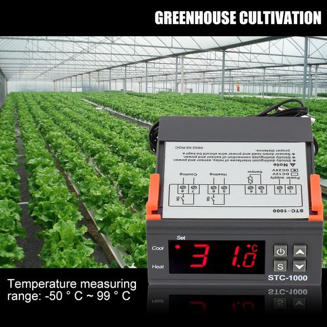Digital Temperature Controller Thermostat Incubator 12V 24V 220V Thermoregulator Thermostat black 12V
