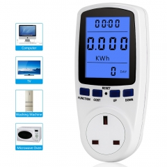 UK Plug Energy Meter Voltage Wattage Current Monitor Watt Checker Saving Power Socket Analyzer