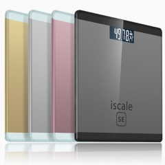 Smart Bathroom Personal Body Scale Electronic Scales Digital Weight Scale LCD Display Scale gold one size