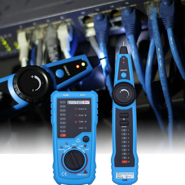 RJ11 RJ45 Cat5 Telephone Wire Tracker Tracer Ethernet LAN Network Cable Tester Detector Line Finder