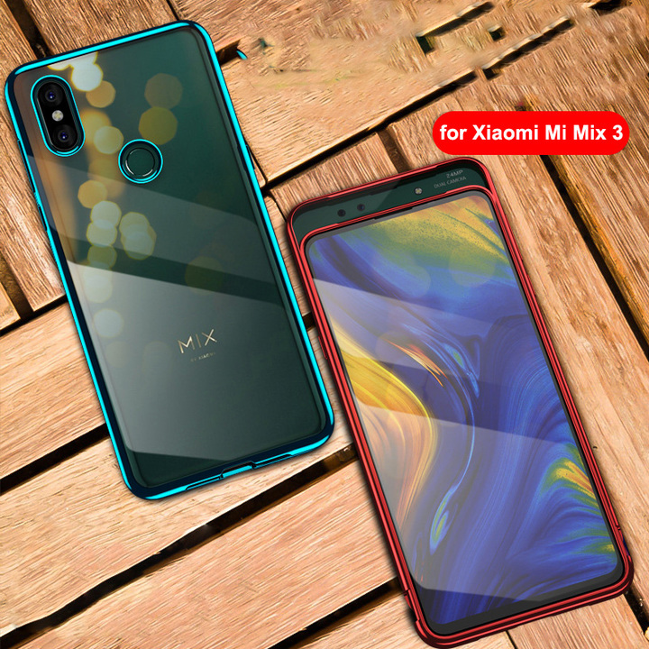 Xiaomi Mi Mix 3 Case 6.39'' Transparent PC 360 Full Cover for Mi Mix3 Shockproof Hard Clear Cover black one size