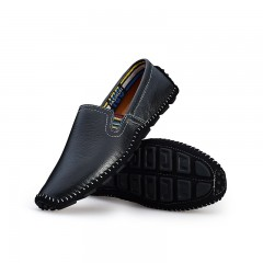 Men's Cow Leather Driving Shoes Handmade Casual Shoes Flats Loafers For Men black 6