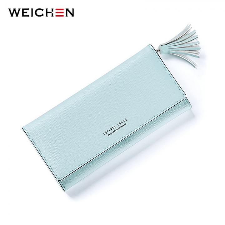 9520e2f4277c Women Fashion Tassels Wallet Lady Long Clutch Wallets Female Purse Hasp  Coin Pocket Card Holder green one size