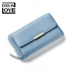 PU Leather Crossbody Bags Women Messenger Shoulder Bags Removable Strap Female Clutch Wallet Handbag blue one size