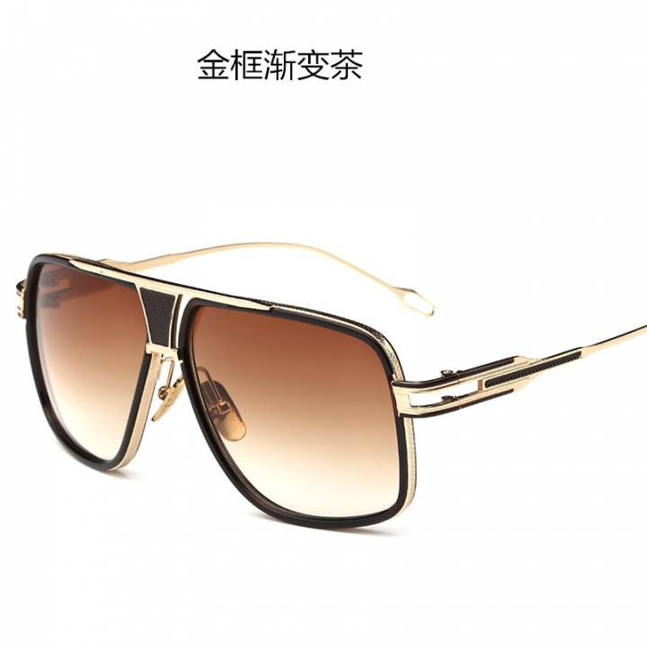 Oversized Square Sunglasses Men Retro Sun Glasses Alloy for Women Vintage Glasses brown one size