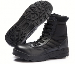 Fashion new male lace-up land desert ankle boots men Martin hiking army short boots shoes black euro 45