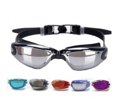 Ultra-clear Adult Silicone Goggles Men women Waterproof Anti-fog sports Swimming glasses transparent black one size