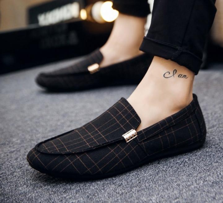 Fashion women European men slip on casual flat sole lazy loafers shoes black euro 39