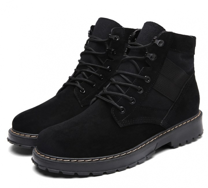 688cf841394db New fashion men lace-up frosted leather retro anti-slip army boots ...