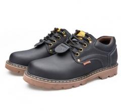 England wind fashion men lace-up big toe punk desert ankle short boots shoes black euro 42