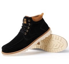 Korean type fashion men retro wind lace-up high-cut casual working short boots shoes black euro 39