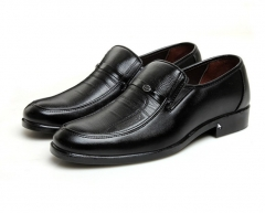 Fashion luxury men slip-on hotel men father dad working casual leather shoes black euro 38