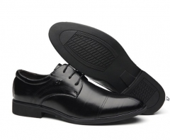Men fashion new style low-cut pointed head business casual office leather shoes black euro 38