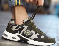 Fashion adult men women lovers lace-up military camouflage casual sports sneakers shoes green 01 38